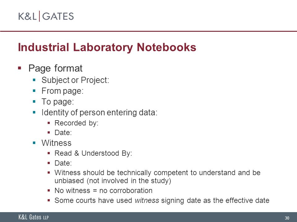 Industrial Laboratory Notebooks