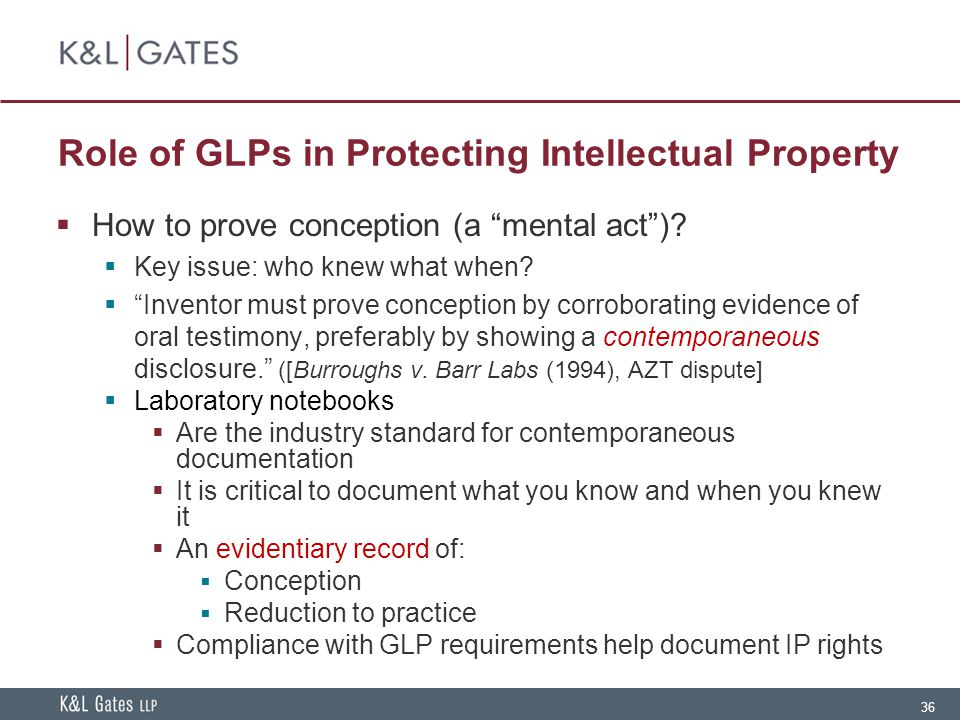 Role of GLPs in Protecting Intellectual Property