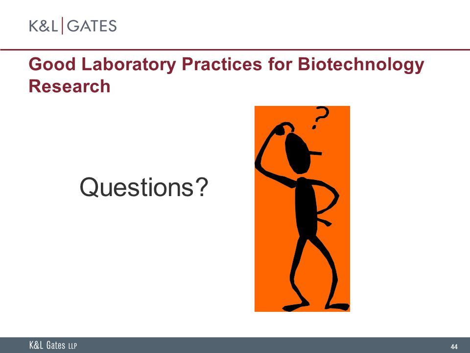 Good Laboratory Practices for Biotechnology Research
