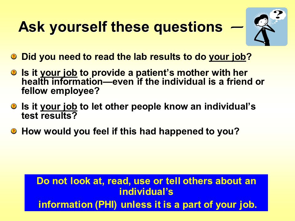 Ask yourself these questions —