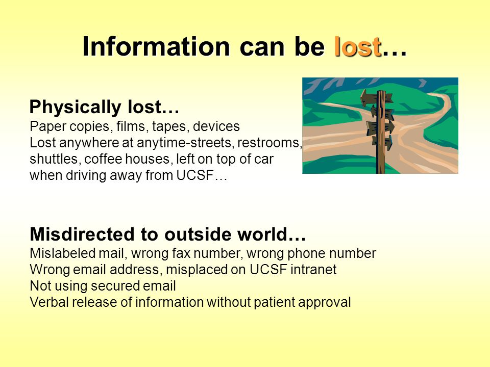 Information can be lost…