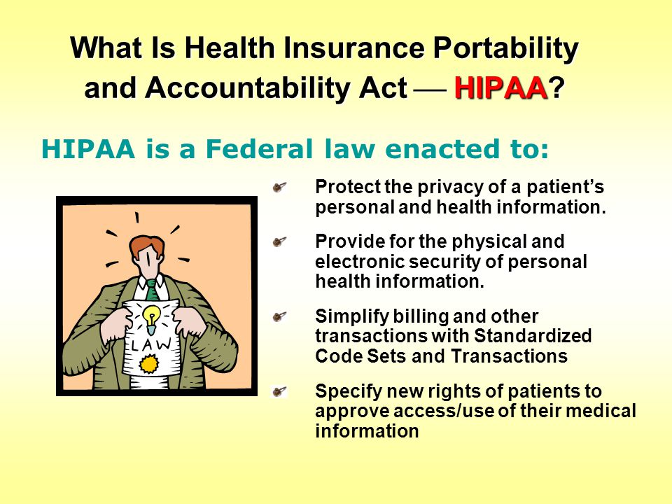 What Is Health Insurance Portability and Accountability Act  HIPAA