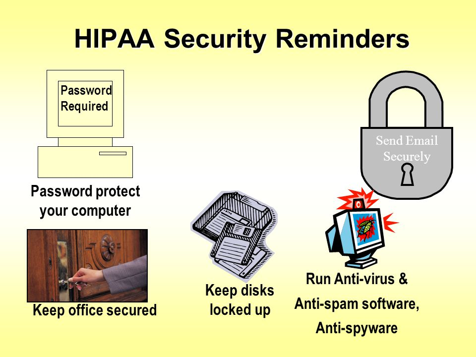 HIPAA Security Reminders