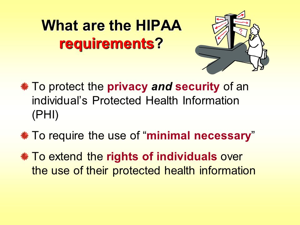 What are the HIPAA requirements