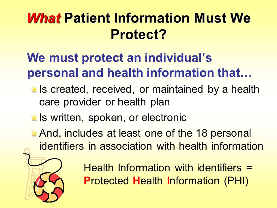 What Patient Information Must We Protect