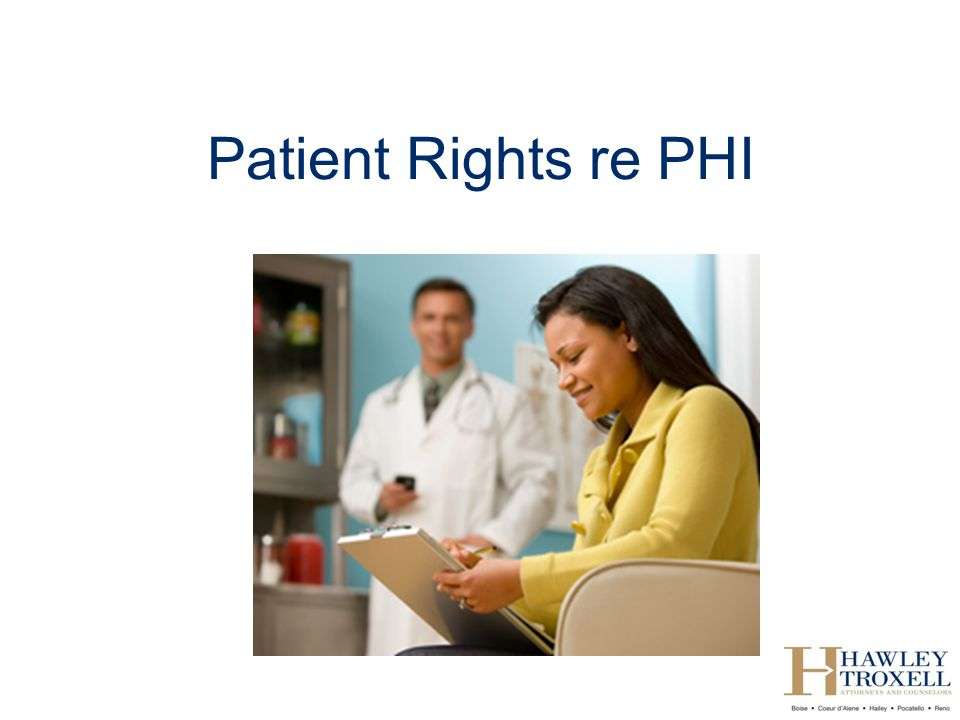 Patient Rights re PHI