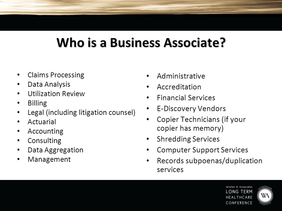 Who is a Business Associate