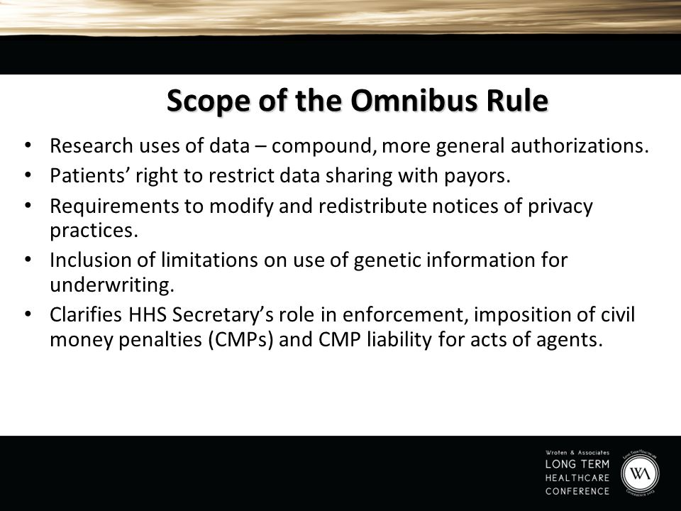 Scope of the Omnibus Rule