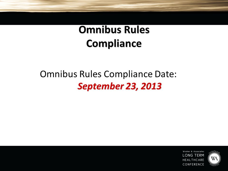 Omnibus Rules Compliance