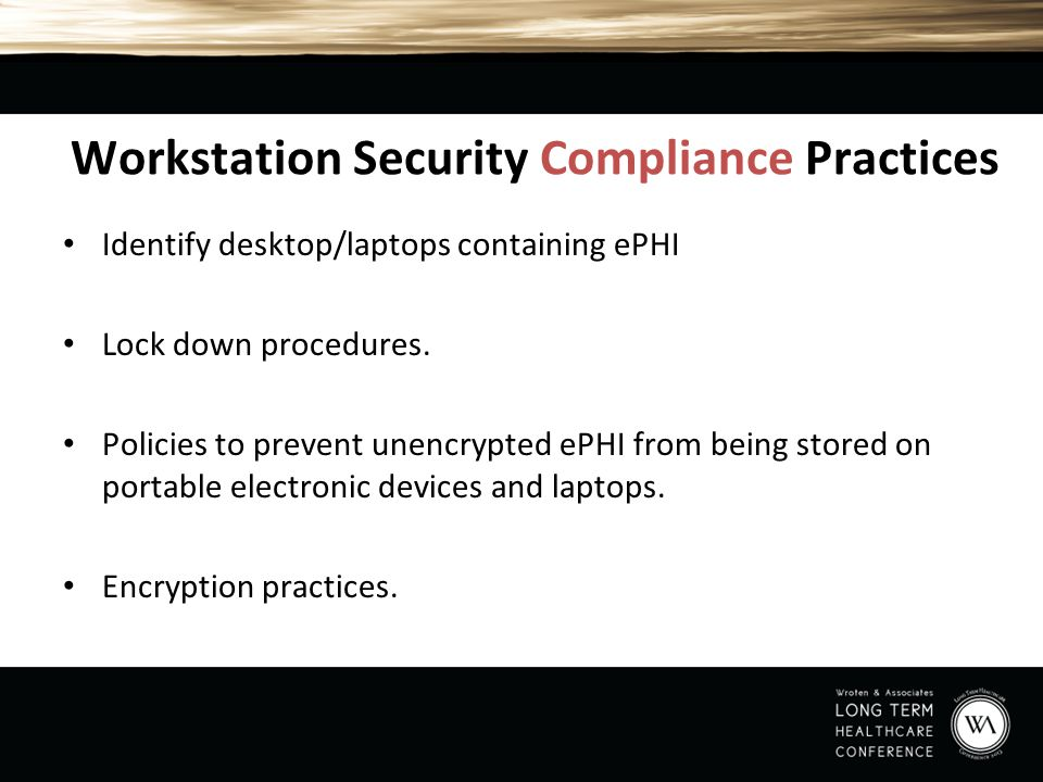 Workstation Security Compliance Practices