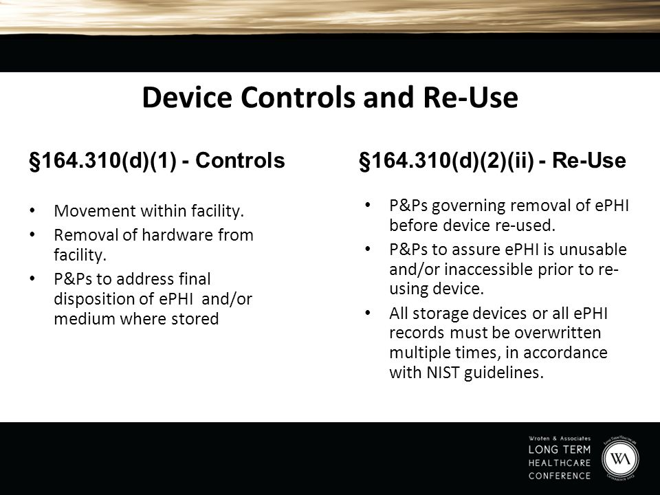 Device Controls and Re-Use