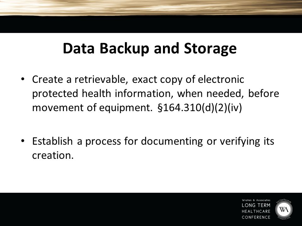 Data Backup and Storage