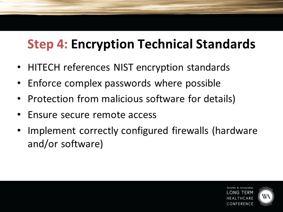 Step 4: Encryption Technical Standards