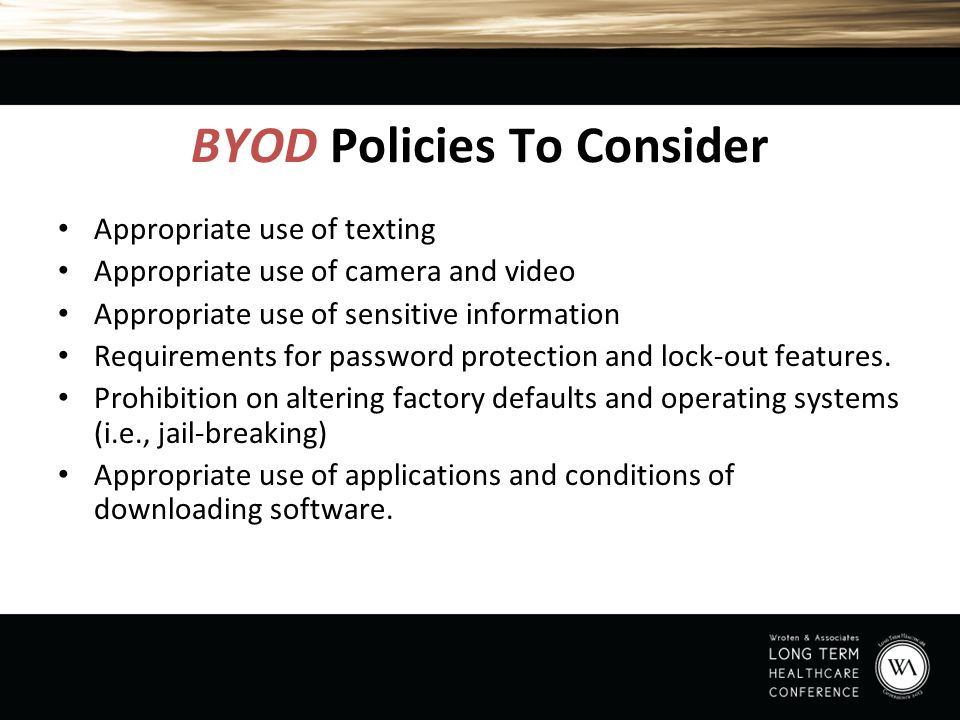BYOD Policies To Consider