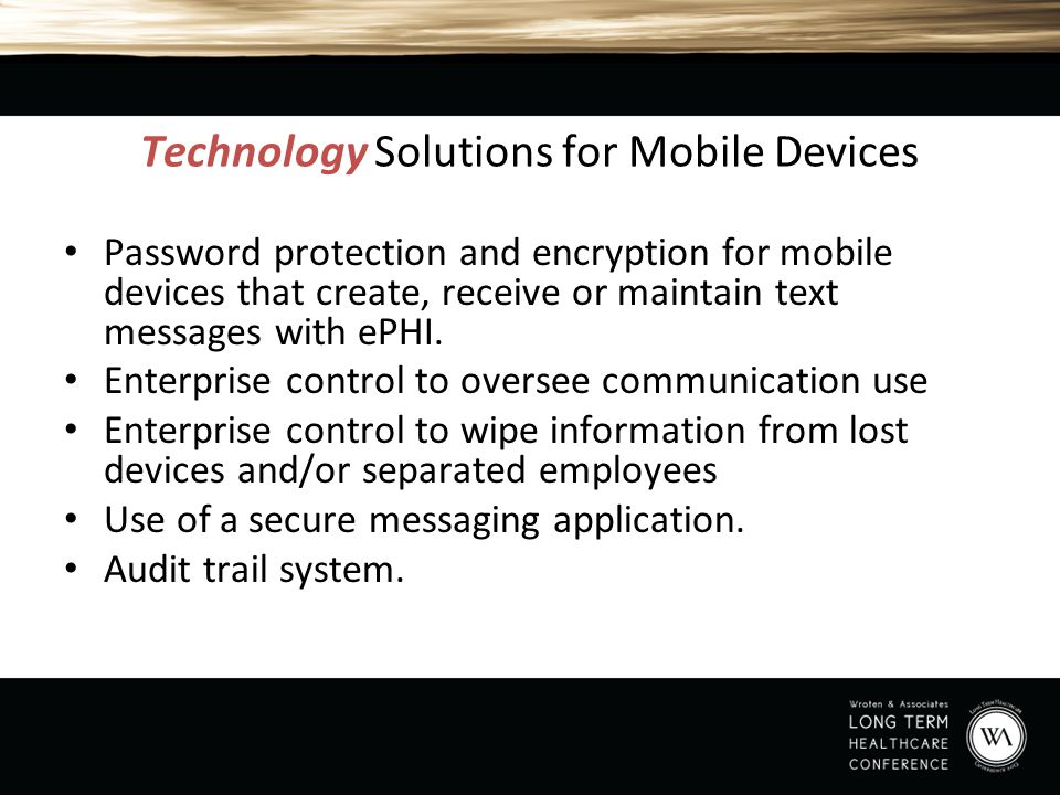Technology Solutions for Mobile Devices