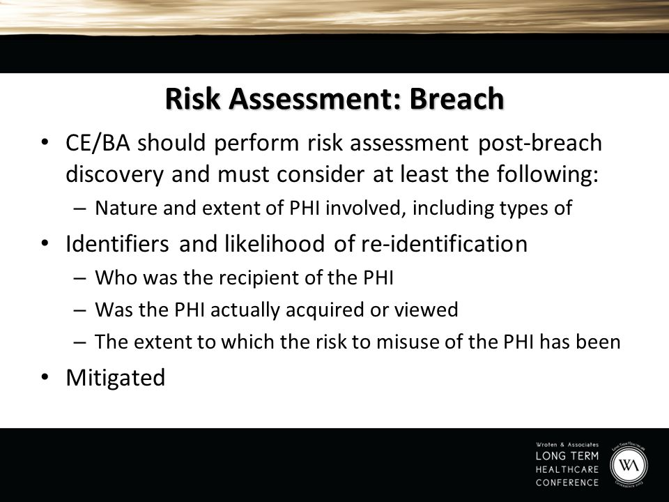 Risk Assessment: Breach