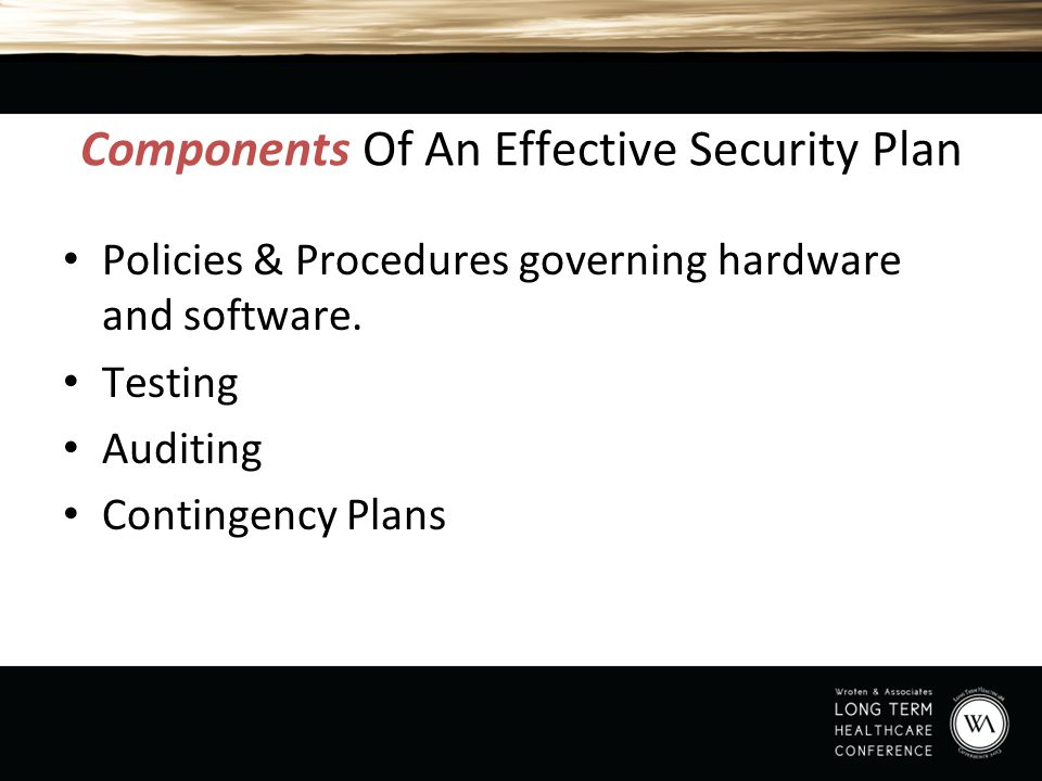 Components Of An Effective Security Plan