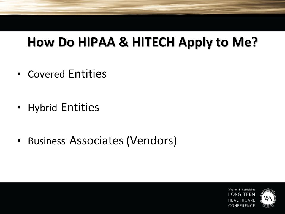 How Do HIPAA & HITECH Apply to Me