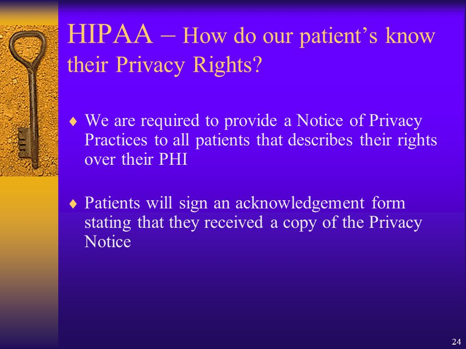 HIPAA – How do our patient's know their Privacy Rights