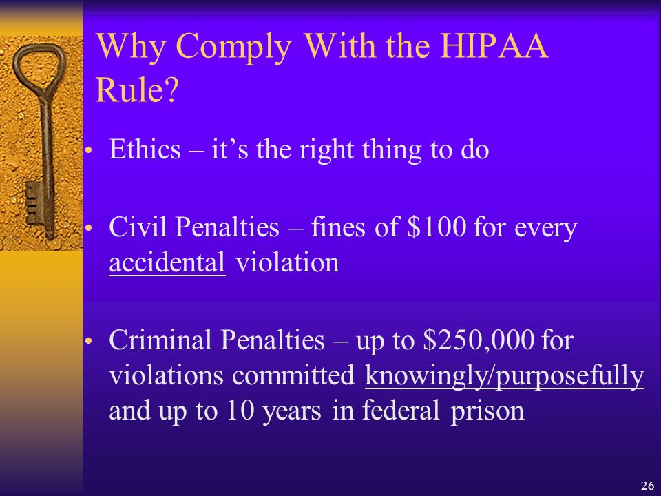 Why Comply With the HIPAA Rule
