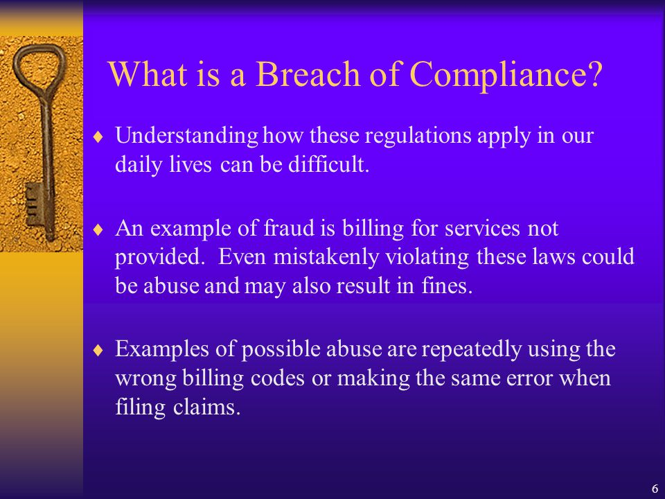 What is a Breach of Compliance
