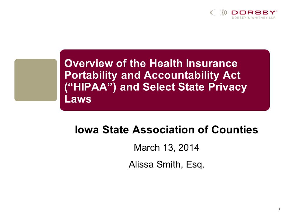 Iowa State Association of Counties March 13, 2014 Alissa Smith, Esq.