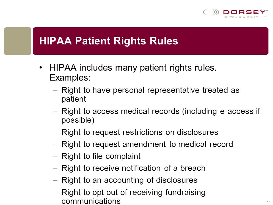 HIPAA Patient Rights Rules
