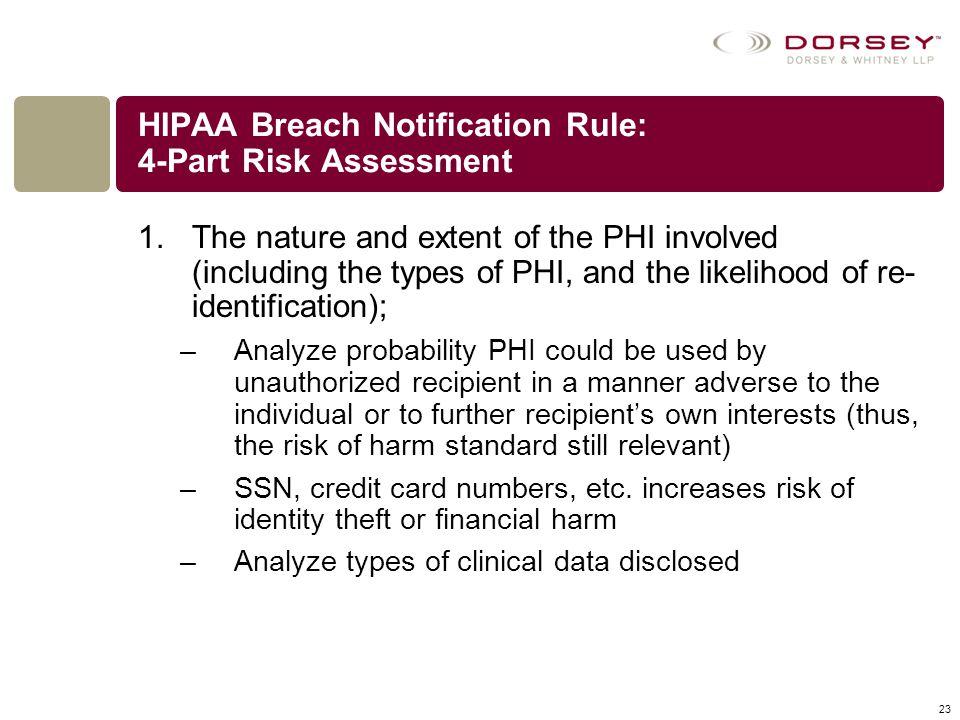 HIPAA Breach Notification Rule: 4-Part Risk Assessment
