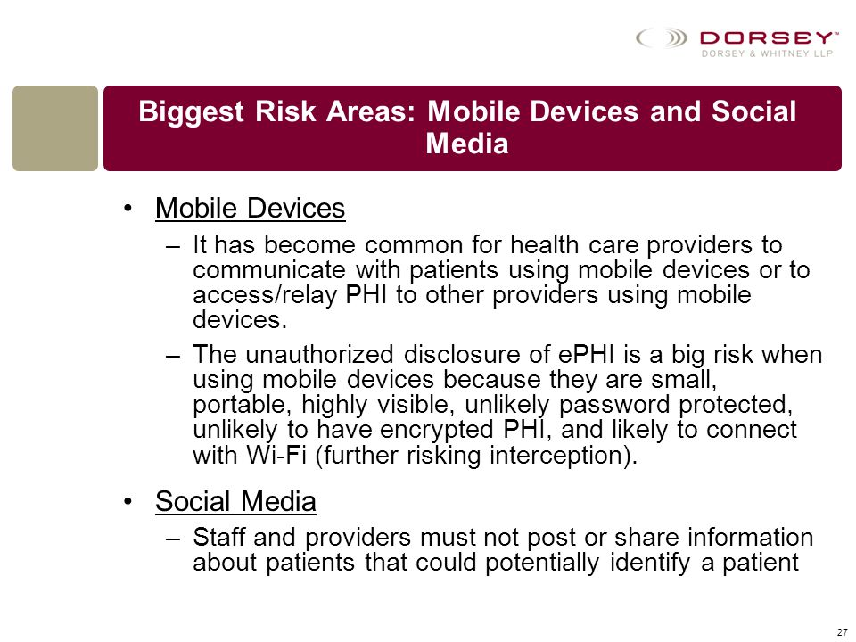 Biggest Risk Areas: Mobile Devices and Social Media