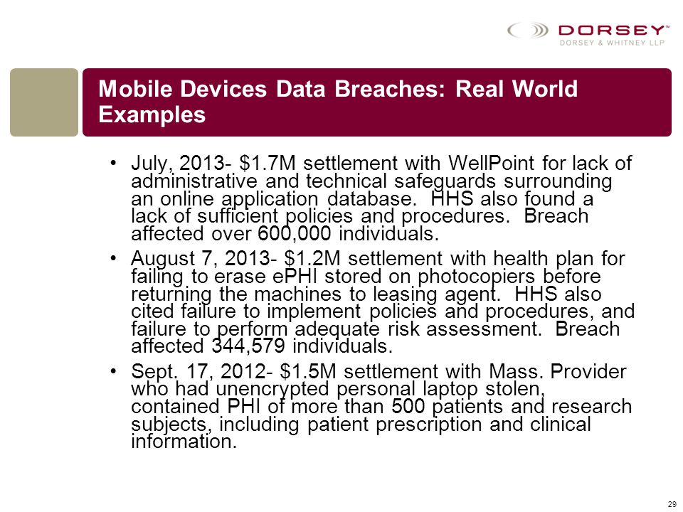 Mobile Devices Data Breaches: Real World Examples
