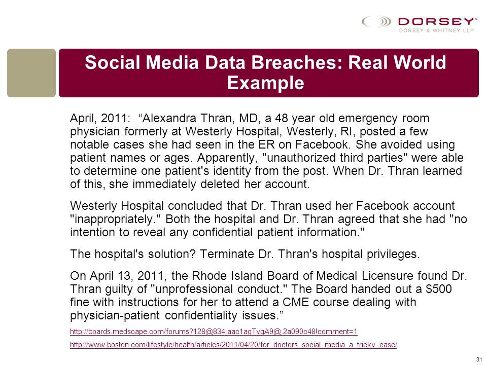 Social Media Data Breaches: Real World Example