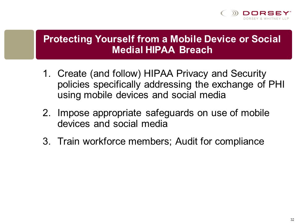 Protecting Yourself from a Mobile Device or Social Medial HIPAA Breach