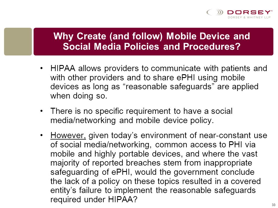 Why Create (and follow) Mobile Device and Social Media Policies and Procedures