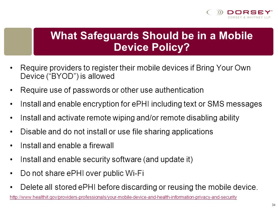 What Safeguards Should be in a Mobile Device Policy