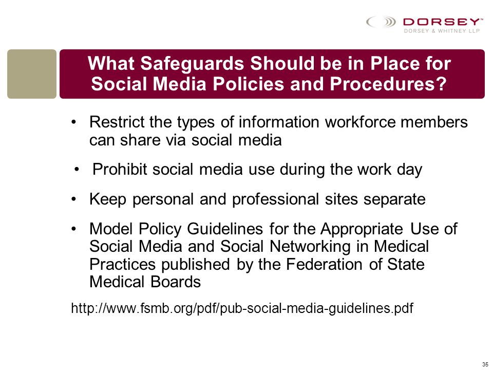 What Safeguards Should be in Place for Social Media Policies and Procedures