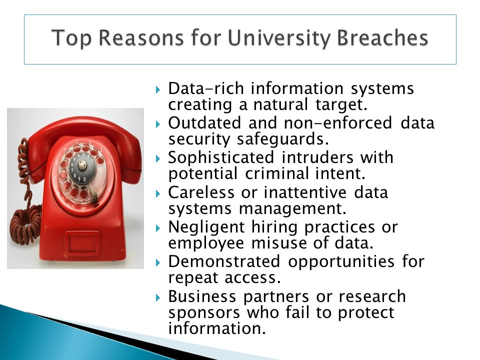 Top Reasons for University Breaches
