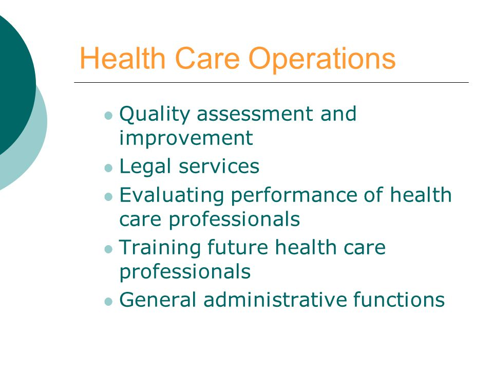Health Care Operations