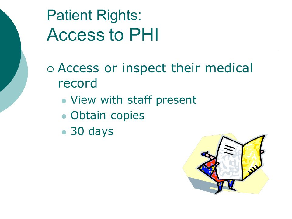 Patient Rights: Access to PHI