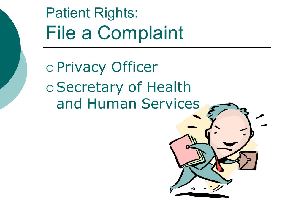 Patient Rights: File a Complaint