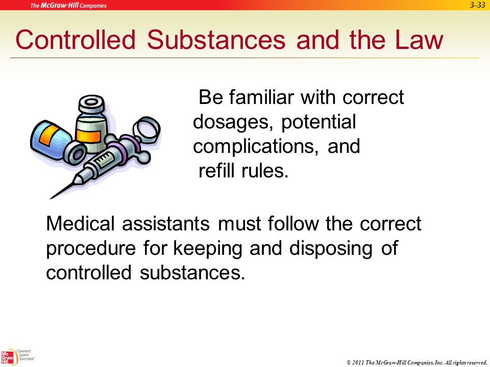 Controlled Substances and the Law