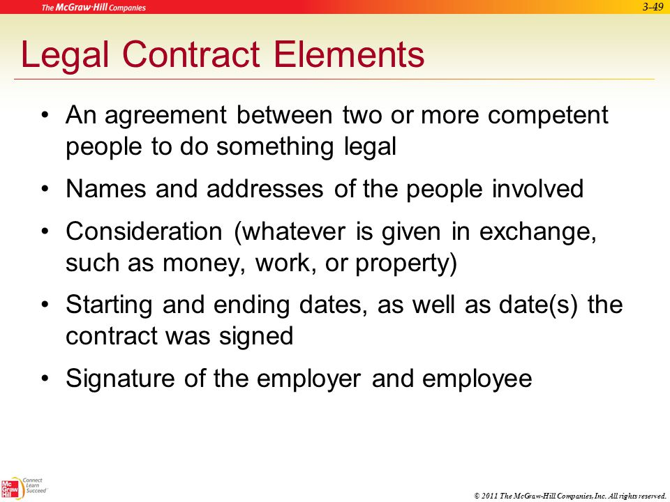 Legal Contract Elements