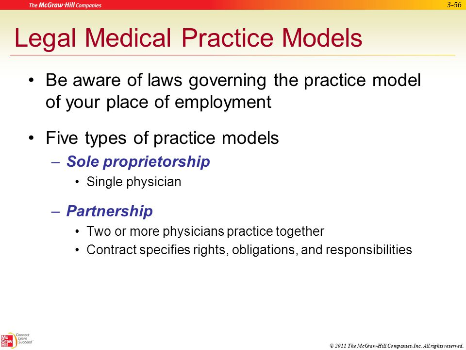 Legal Medical Practice Models