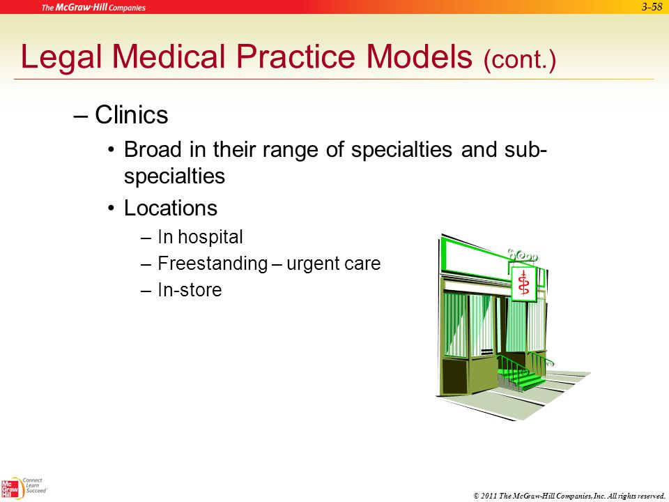Legal Medical Practice Models (cont.)