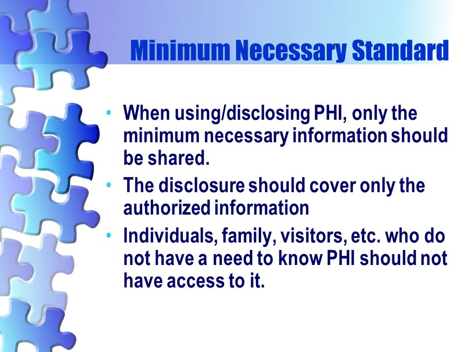 Minimum Necessary Standard