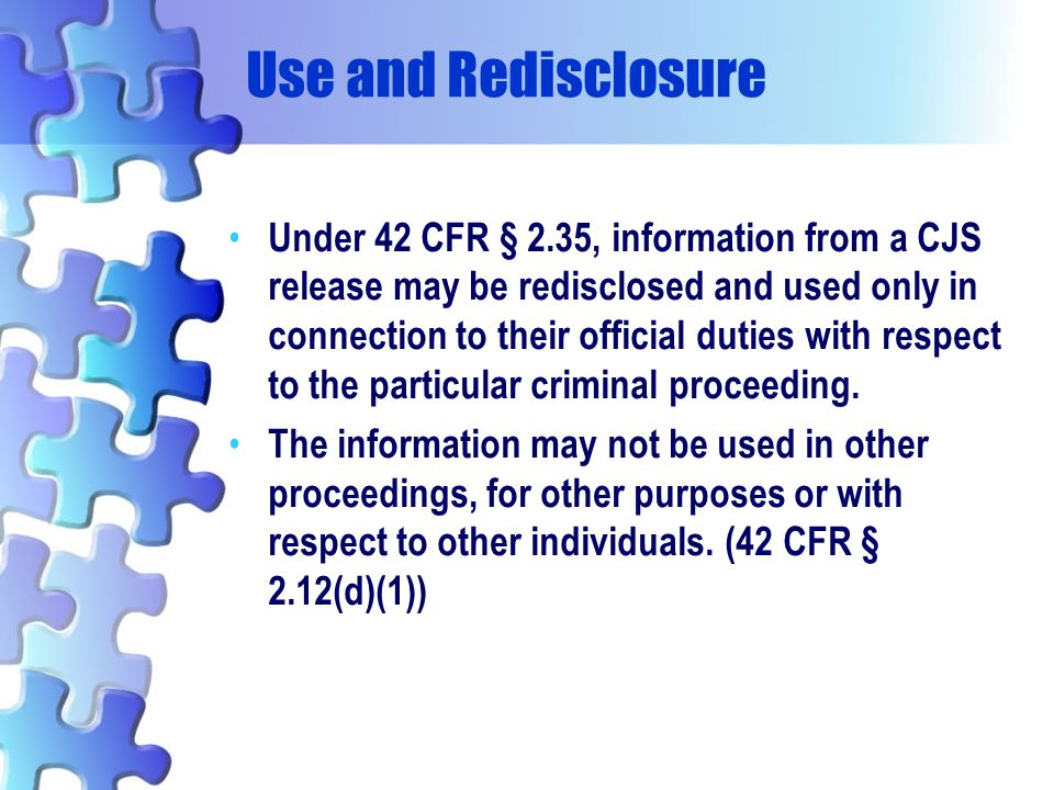 Use and Redisclosure