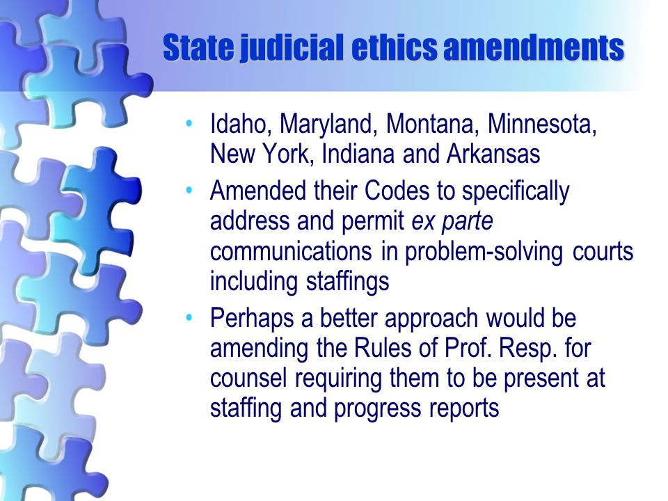 State judicial ethics amendments