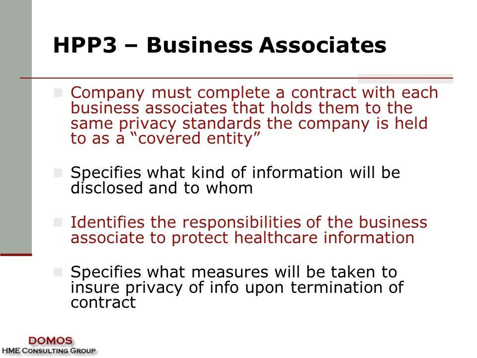 HPP3 – Business Associates