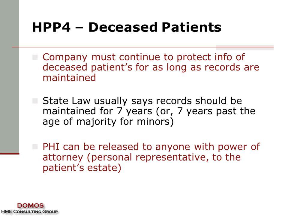 HPP4 – Deceased Patients
