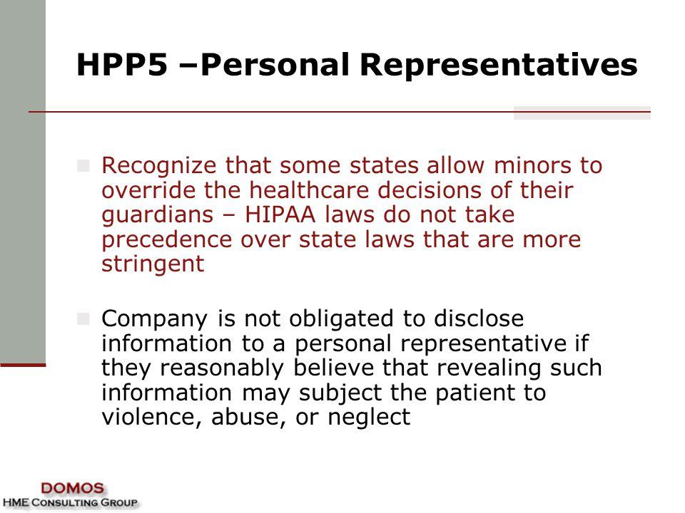 HPP5 –Personal Representatives