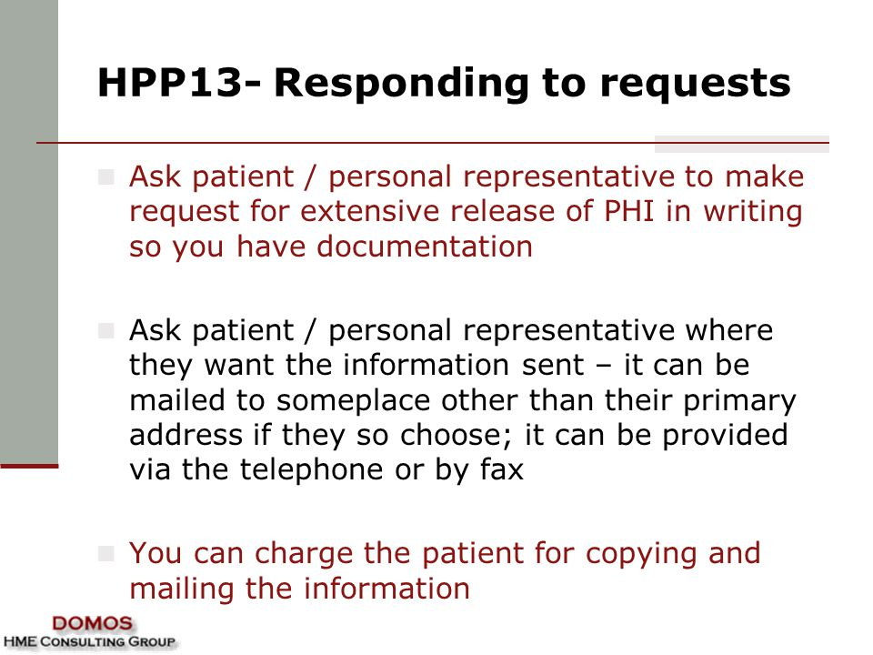 HPP13- Responding to requests